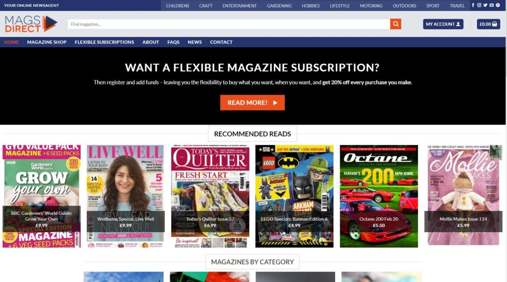 Mags Direct - magazine shop